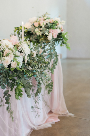 Greenery and Silk Wedding Decorations