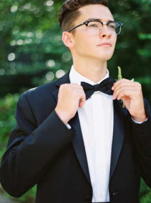 Groom in Classic Bow Tie