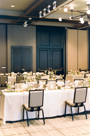Hotel Ballroom Black and White Wedding