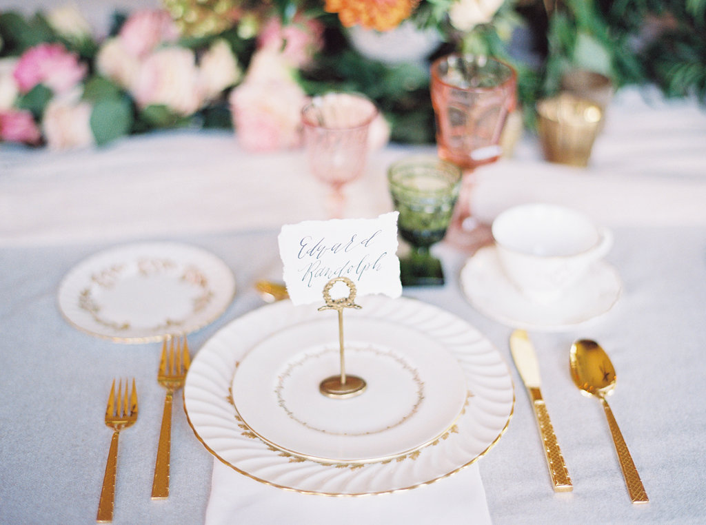 Ivory and Gold Wedding China