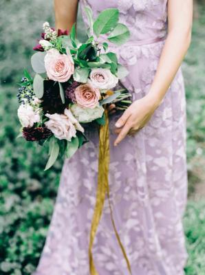 Lace Mauve Bridesmaid Dress