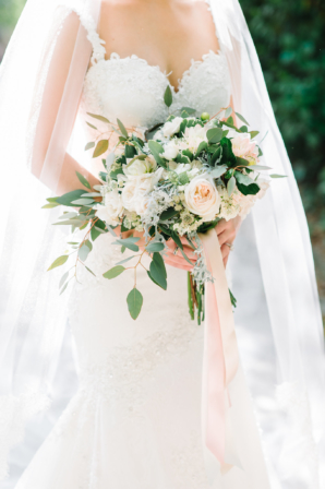 Loose Blush and Ivory Bridal Bouquet