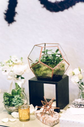 Modern Wedding Decor with Succulents