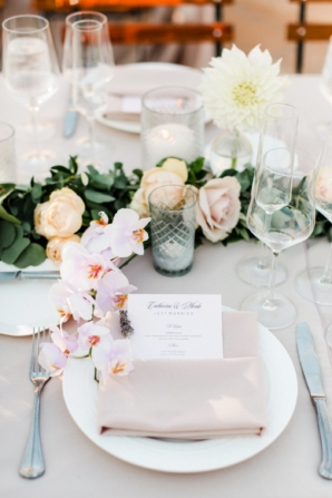 Orchids at Wedding Place Setting