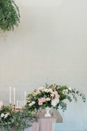 Organic Pink and Green Centerpiece
