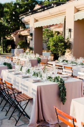 Outdoor Reception at Villa