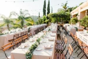Outdoor Santa Barbara Wedding Reception