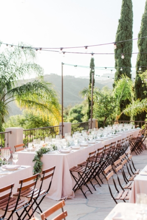 Outdoor Wedding with Long Tables