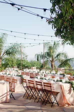 Peach Outdoor Wedding Reception