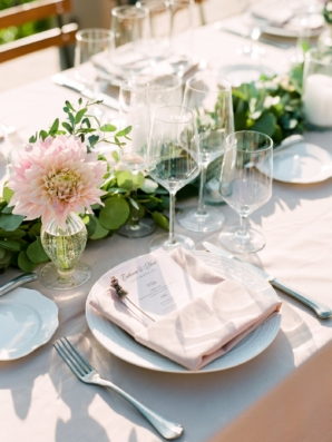 Peach and Green Outdoor Wedding
