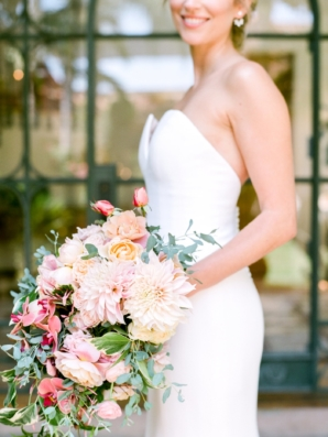 Pink and Peach Tropical Bouquet