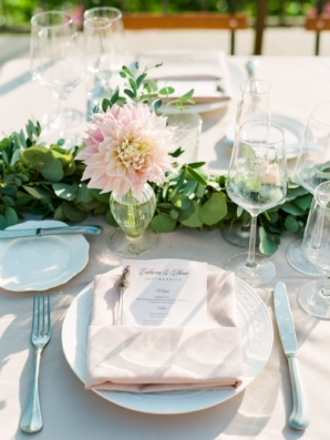 Pink and White Outdoor Wedding Reception