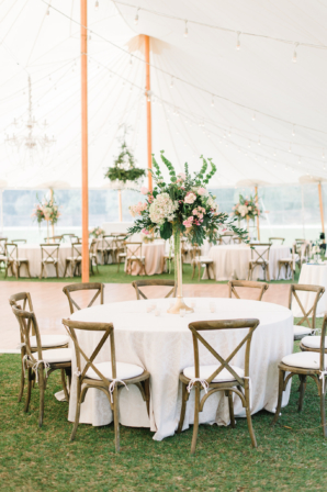 Pink and White Tent Reception