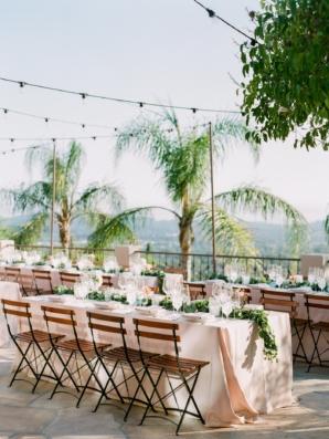 Santa Barbara Outdoor Wedding Reception