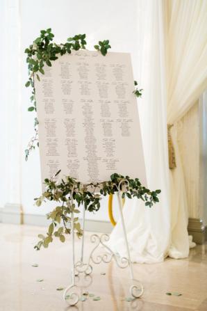 Seating Chart for Wedding on Easel