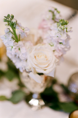Stock and Rose Wedding Flowers