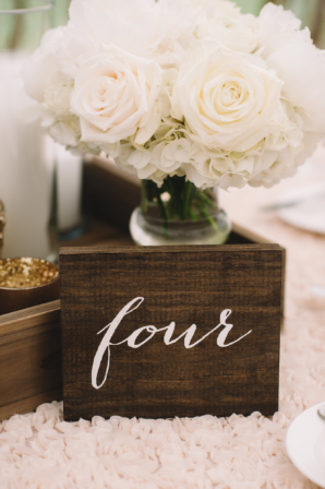 Table Numbers Made from Wood