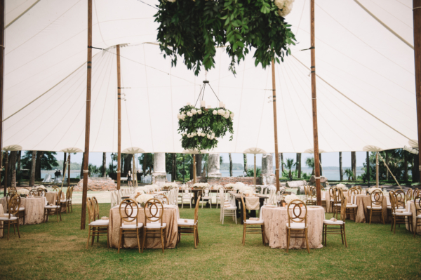 Tent Wedding Reception on Lawn