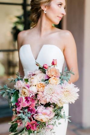 Tropical Flower Arm Bouquet