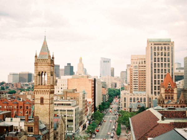 View of Boston from Lenox Hotel