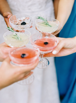 Vintage Wedding Drink Coupes
