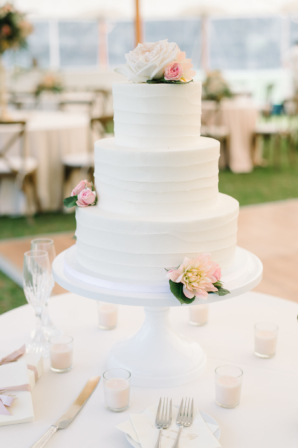 Wedding Cake with Ruffled Icing