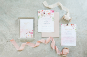 Wedding Invitations with Colorful Flowers