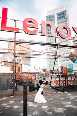 Wedding Photo on Lenox Hotel Rooftop