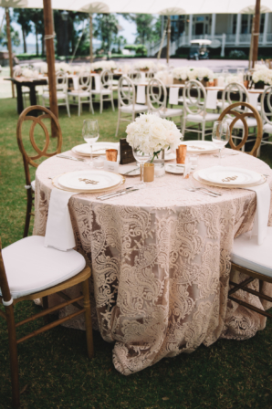 Wedding Reception in Ivory and Champagne