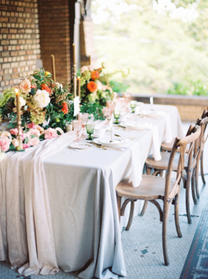 Wedding Table with Autumn Flowers