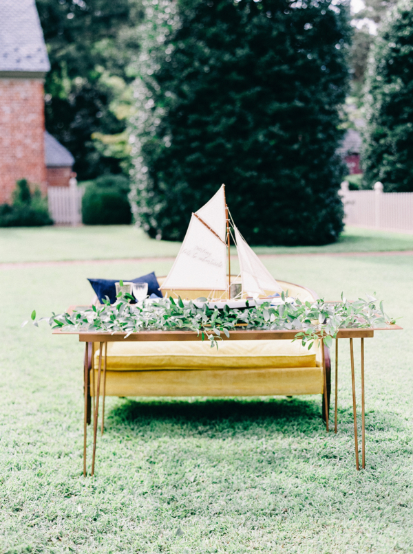 Wedding Table with Ship Centerpiece