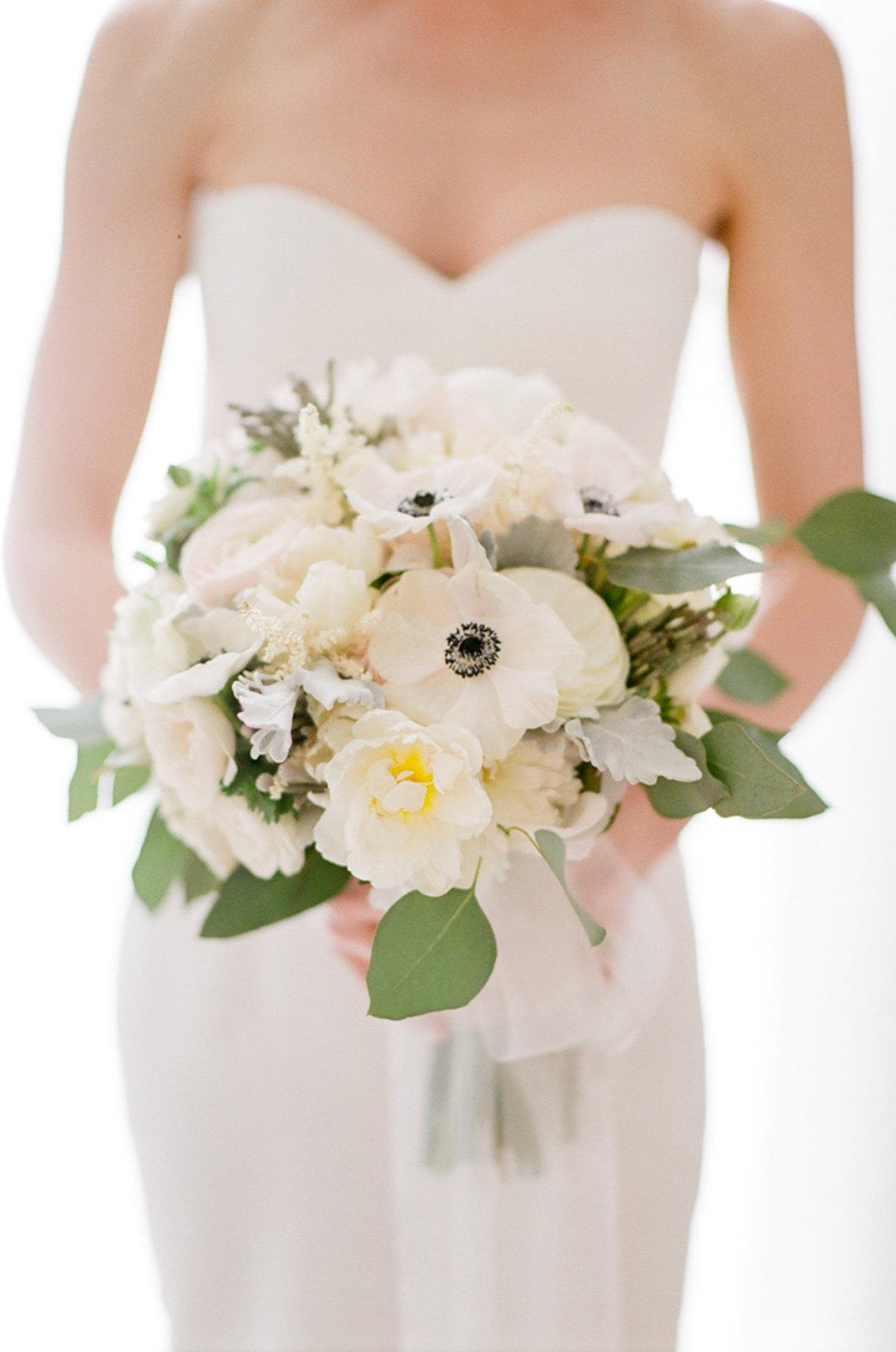 White and Ivory Bride Bouquet