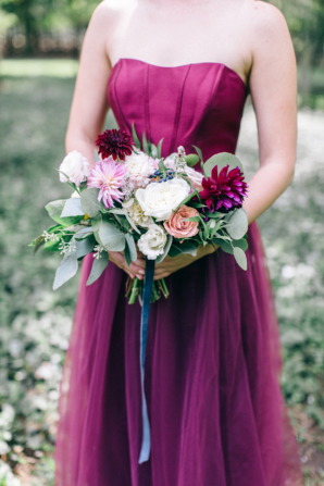 Wine Bridesmaids Dress