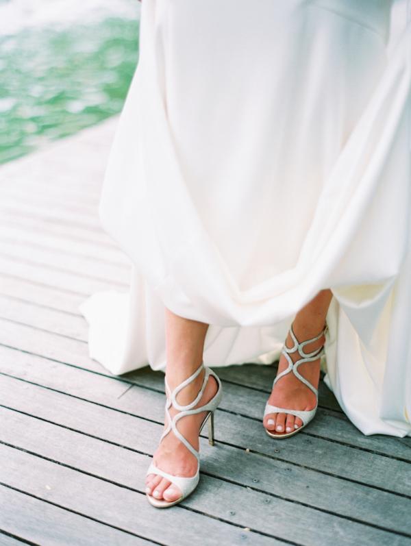 Bride in Jimmy Choo Shoes