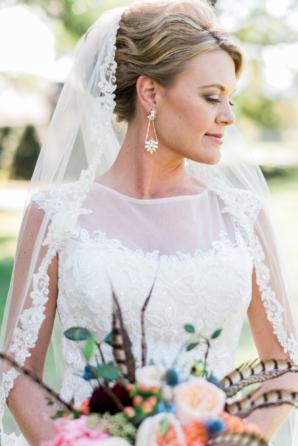 Bride with Chandelier Earrings