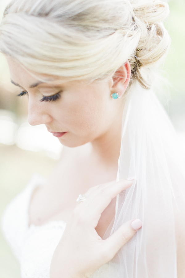 Bride with Something Blue Earrings