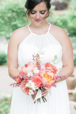 Bridesmaids Pink Peony Bouquet