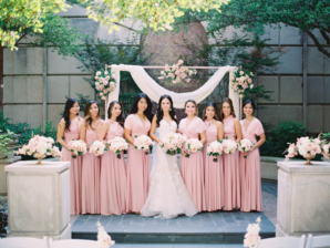 Bridesmaids in Convertible Dresses