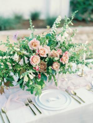 Centerpiece of Pink Garden Roses