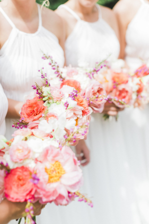 Coral Peony Bouquets
