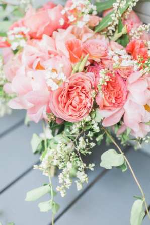 Coral and Pink Bouquet