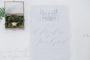 Custom Wedding Stationery with Venue