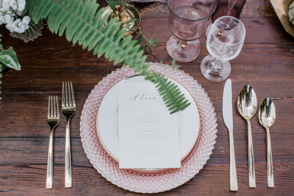Depression Glass Place Setting