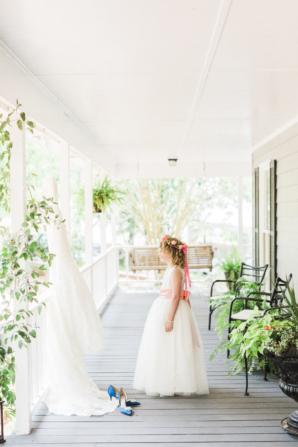 Flower Girl on Porch