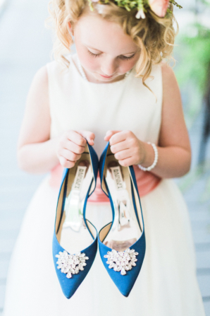 Flower Girl with Blue Shoes