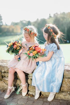 Flower Girls in Colorful Dresses