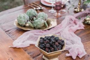 Fruits and Vegetables on Vintage Platters