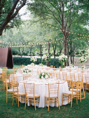 Gold and White Outdoor Wedding