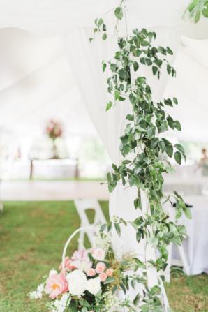 Greenery Garland on Wedding Tent