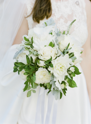 Ivory and Green Bride Bouquet